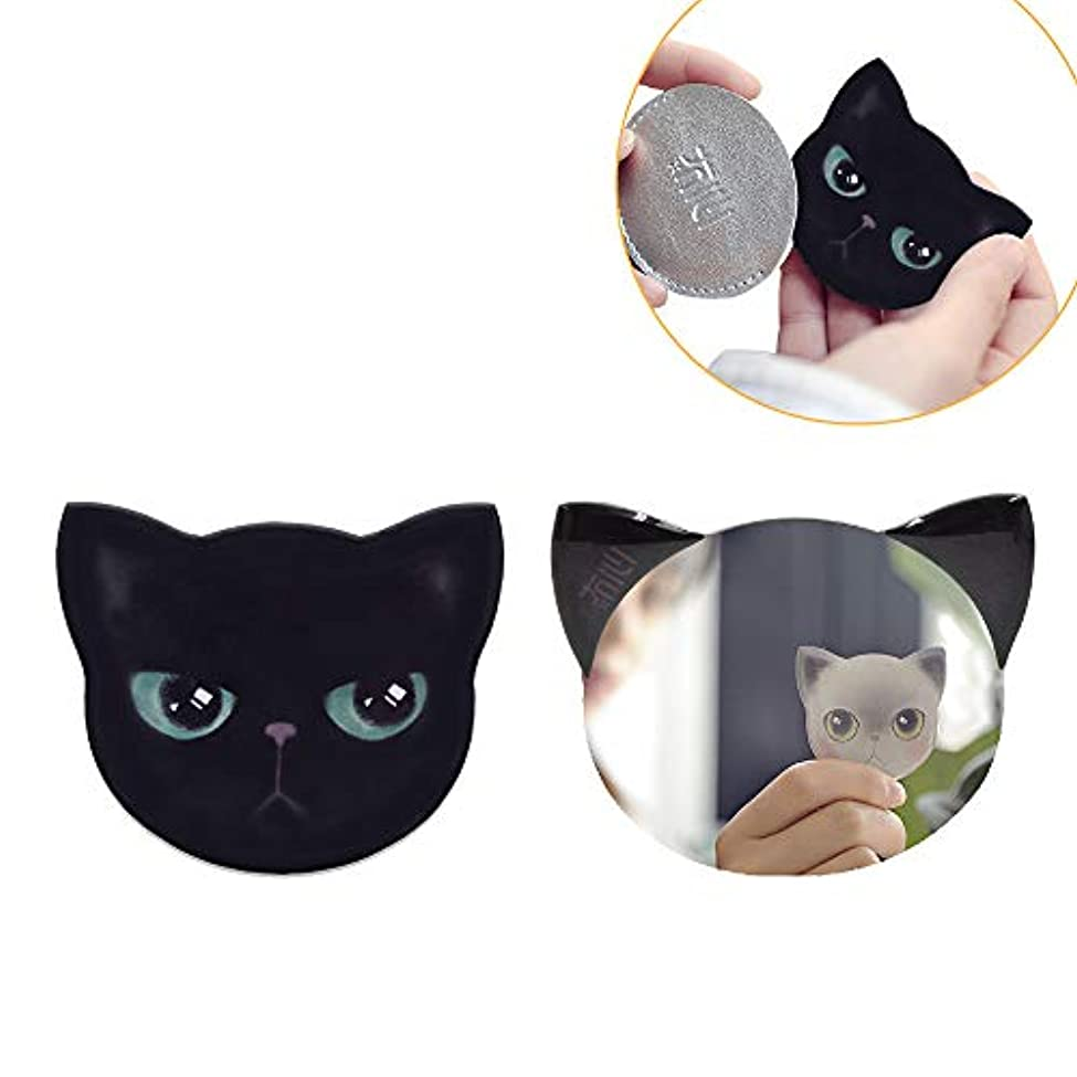 ファンダーツ幸運iitrust 手鏡 コンパクト 猫柄 8パタン 収納袋付き 割れない 鏡 おしゃれ コンパクトミラー ハンドミラー かわいい 手鏡 猫 手鏡 かわいい iitrust並行輸入品