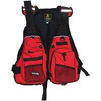 HYSENM ライフジャケット フィッシングベスト フローティングベスト 呼子付き シュノーケリング 胴衣 安全保護 迷彩 固定ベルト付き 男女兼用