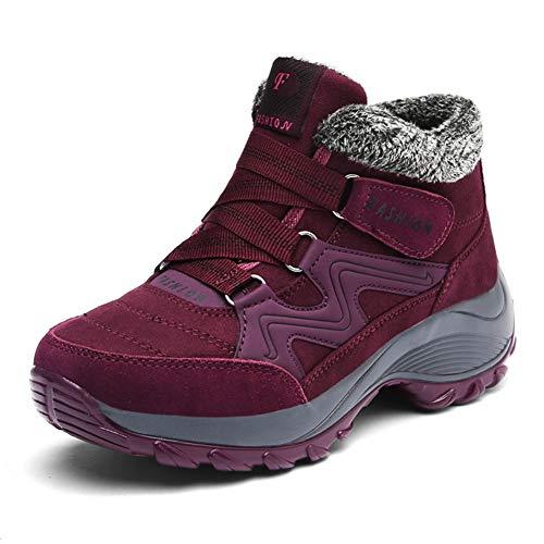 f97bc531a1241  MUMEOMU  スノーブーツ 綿靴 裏起毛 雪靴 カジュアル ハイカット ウインターブーツ アウトドア