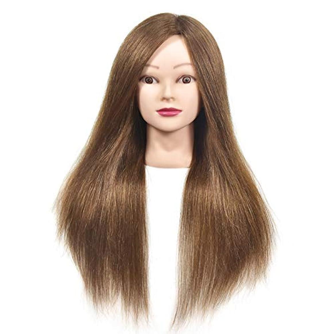 無視免除フラフープ本物の人間の髪のかつらの頭の金型の頭の編み出しスタイリングのマネキン頭の理髪店の練習の教師のダミーヘッド