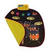 Perfk 折りたたみ可能 ジャズドラム カーペット タッチマット 子供 音楽パッド 就学前 音楽学習玩具