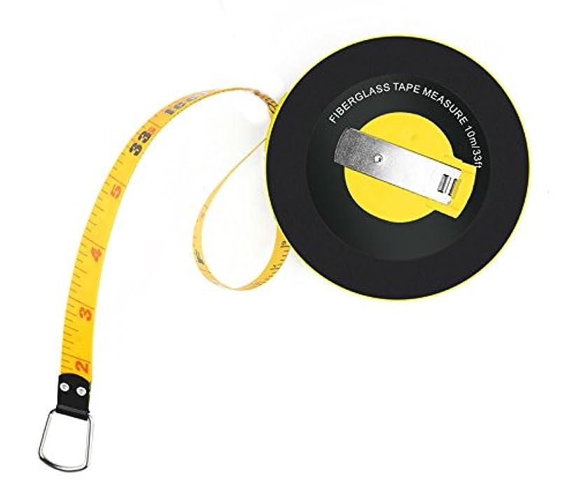 出力付き添い人微弱ファイバーグラス テープメジャー 10m 33Ft 測定用巻尺 メートル?フィート?インチ M/Ft./Inch 計測機器 距離 Fiberglass tape Measure