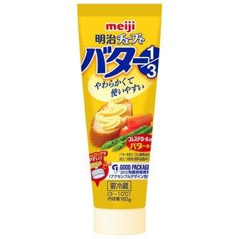 チューブでバター 1/3 160g 【冷蔵】明治(1パック)