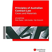 Principles of Australian Contract Law: Cases and Materials, 4th edition