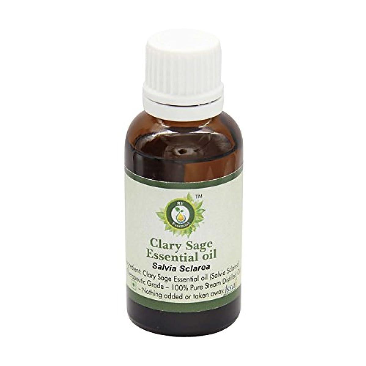ケーブル好む条件付きR V Essential ピュアクラリーセージエッセンシャルオイル630ml (21oz)- Salvia Sclarea (100%純粋&天然スチームDistilled) Pure Clary Sage Essential...