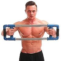 GoFitness スーパープッシュダウンバー 上半身エクササイズ器具 上半身ワークアウトの完成品 胸部トレーニング 腕 肩 背中 腹筋 筋肉増強 90LBS (Strong)