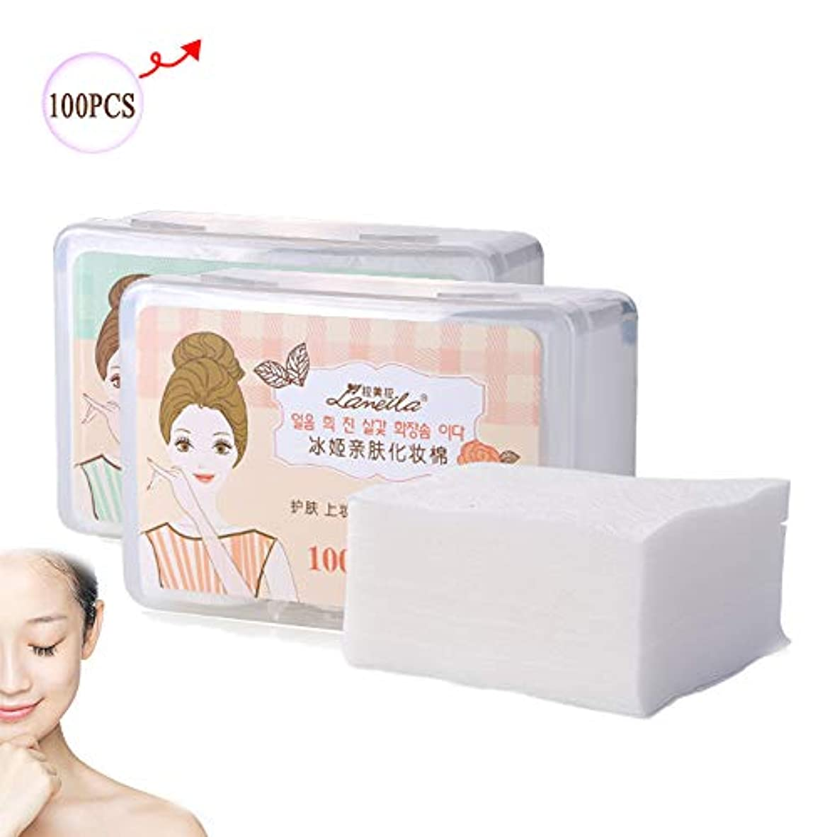周術期倍増戦術メイク落としパッド、顔用洗顔料コットンパッド洗顔用女性と男性
