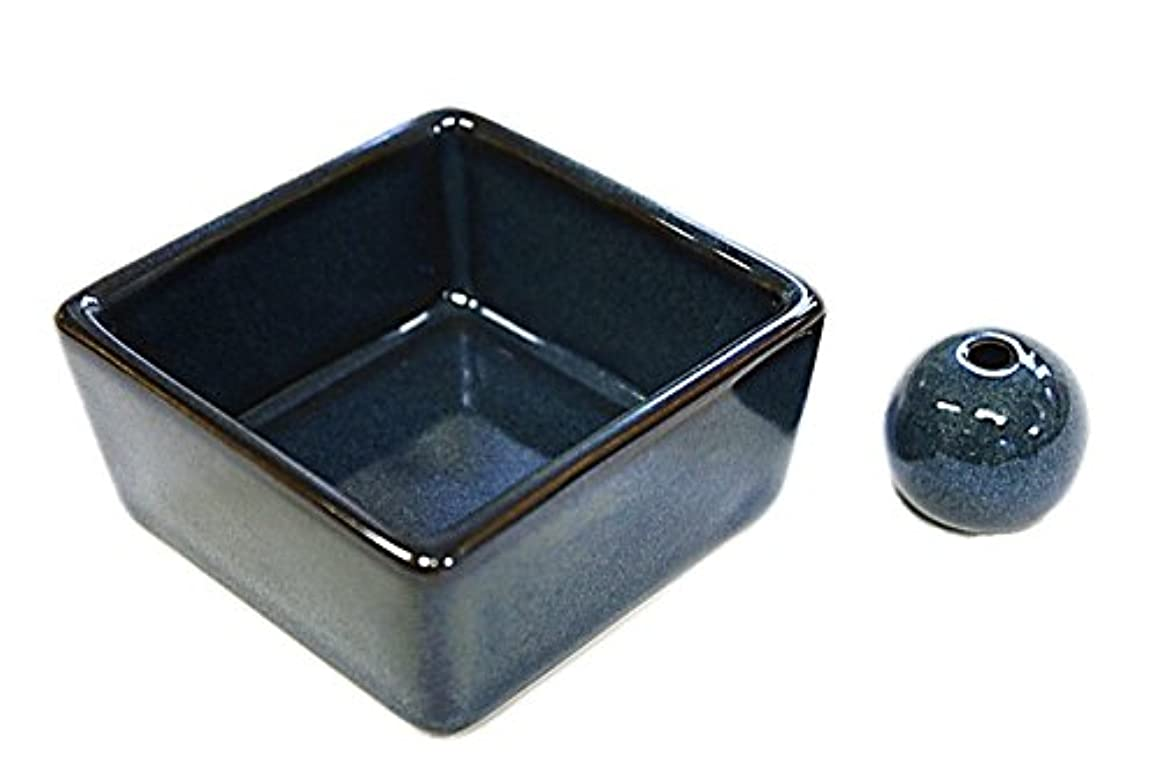 投資する音楽を聴くどこか和モダン 海鼠色 お香立て 陶器 角鉢 製造直売品