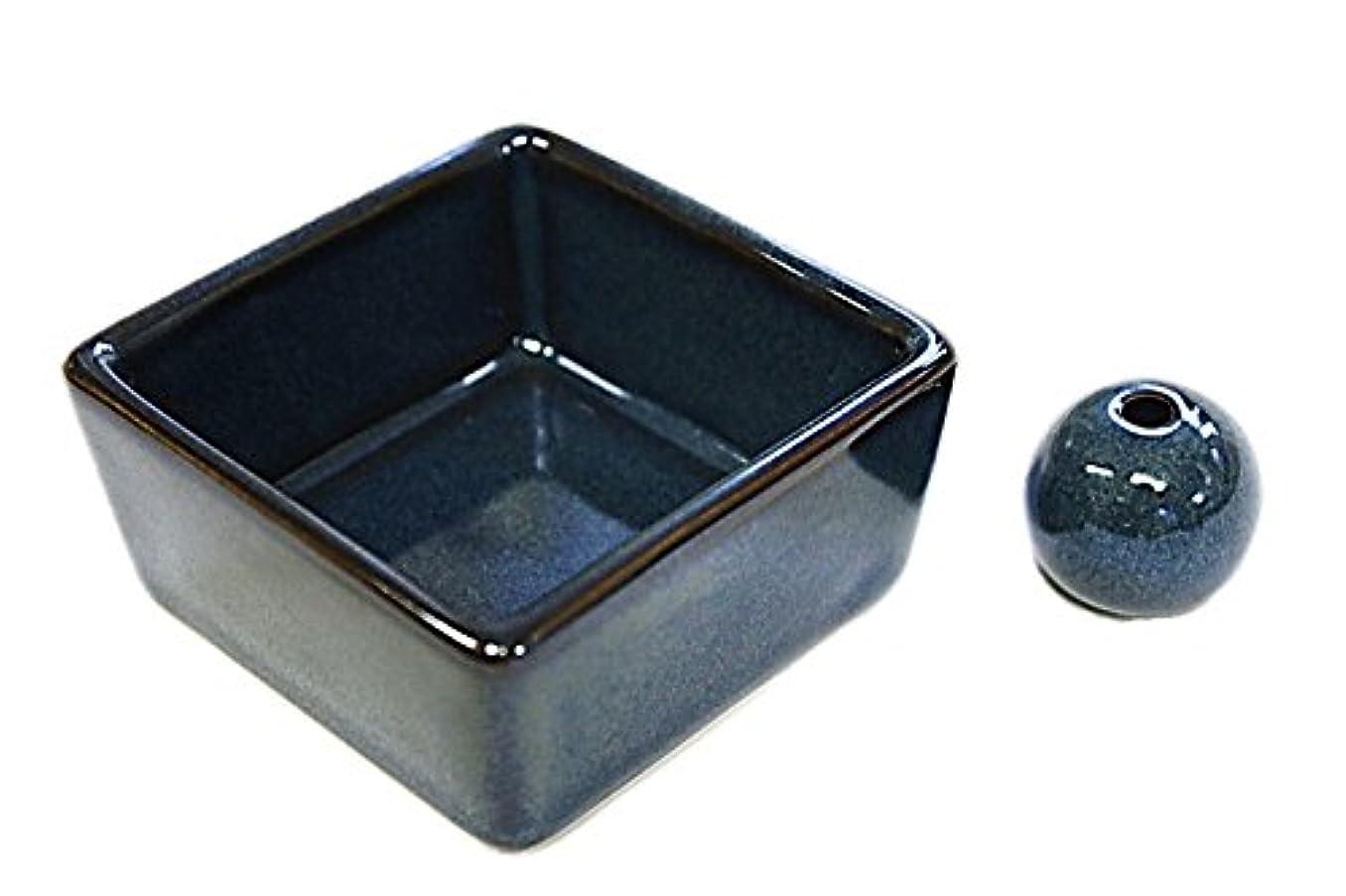 マティス反論者科学的和モダン 海鼠色 お香立て 陶器 角鉢 製造直売品