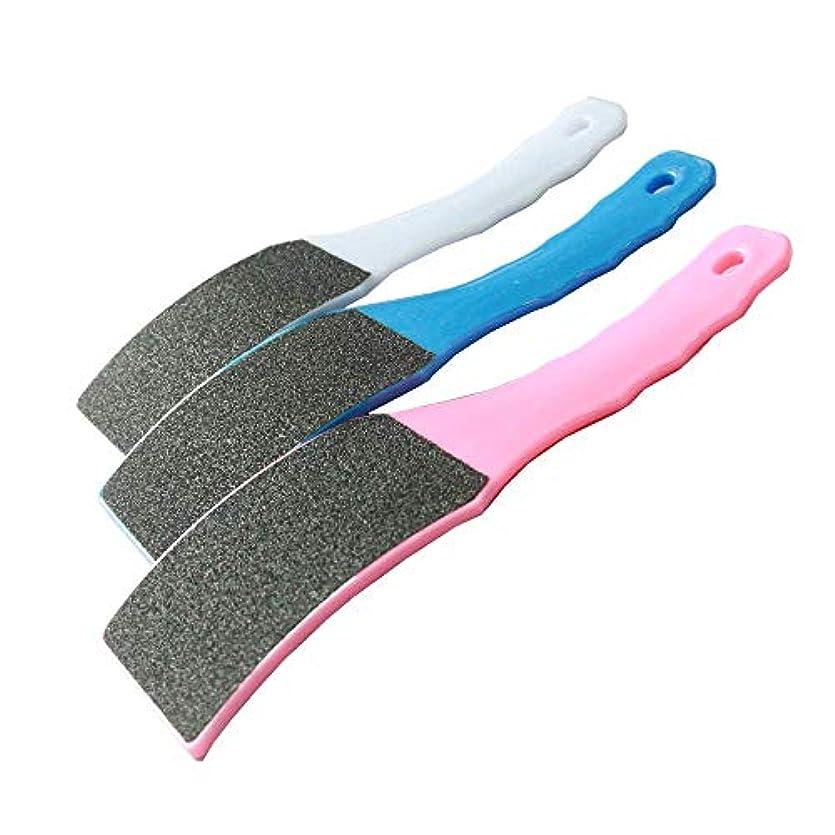 若い楽しむ可動式足 かかと削り 角質除去 Filan プラスティック プロフットケア 足やすり 防水 ビューティーフットレギュラー 角質リムーバー 角質ヤスリ「両面製」3セット入り お風呂 水洗い可