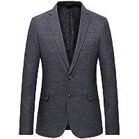 Sodossny-AU Men's Fashion Plain Lightweight Two Button Blazer Jacket Coat