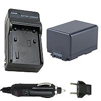 Genericバッテリーと充電器for Canon VIXIA HF r60、HF r62、HF r600HDビデオカメラ