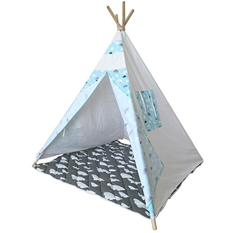 テント子供用 折り畳み式 キッズテント 屋内テント 秘密基地 知育玩具 子供遊ぶハウス 子供部屋装飾 簡単組み立て
