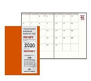 トラベラーズノート 手帳 リフィル 2020年 パスポートサイズ マンスリー 14411006 (2019年 12月始まり)