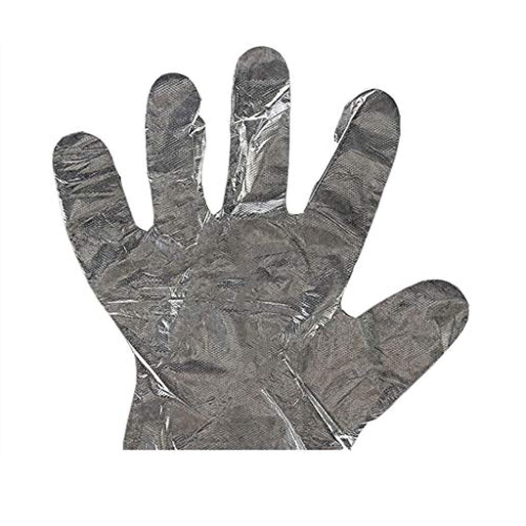 ダニ野菜アリス手袋の使い捨て手袋PEの衛生的な食糧手袋100パッケージ