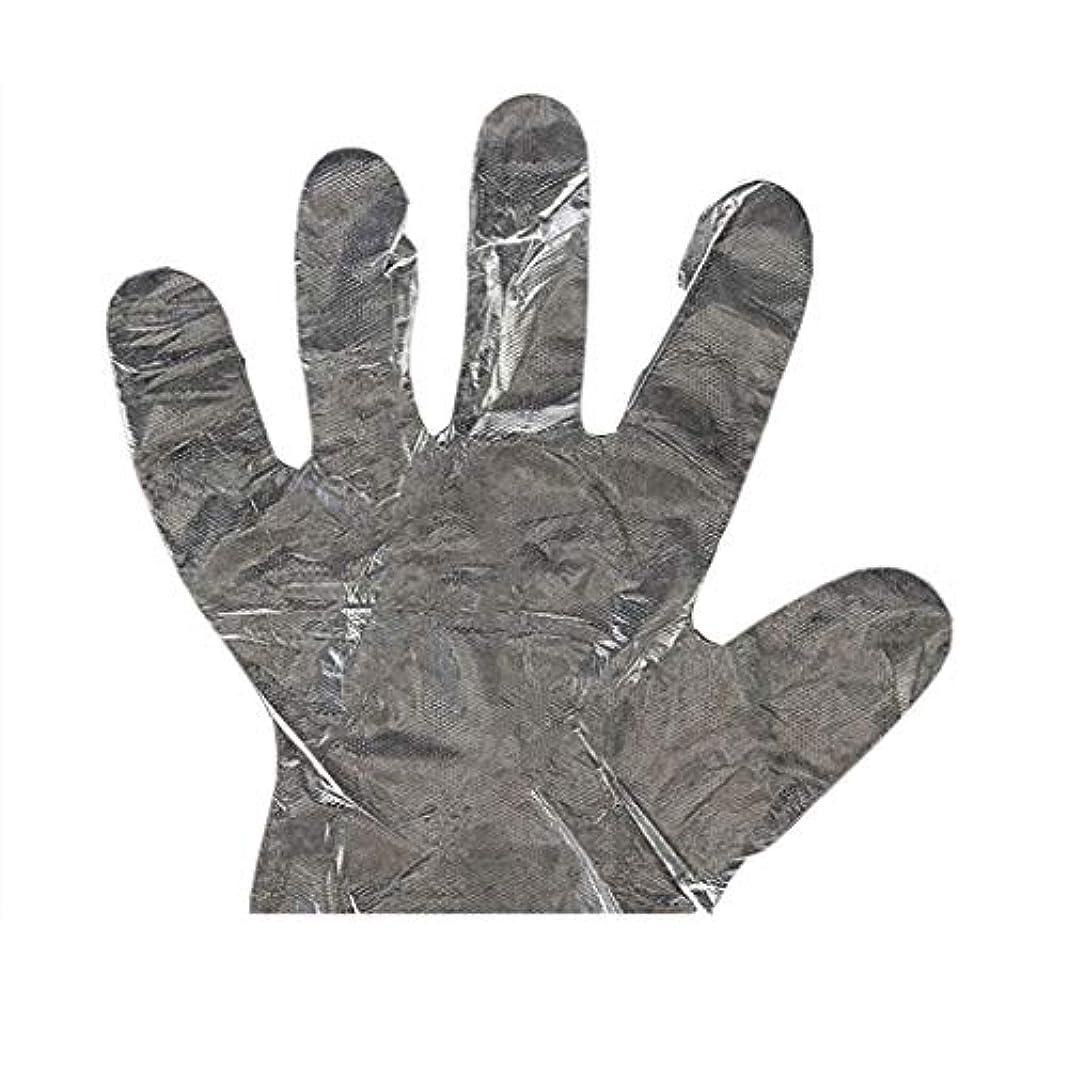 加速度に付けるバウンド手袋の使い捨て手袋PEの衛生的な食糧手袋100パッケージ