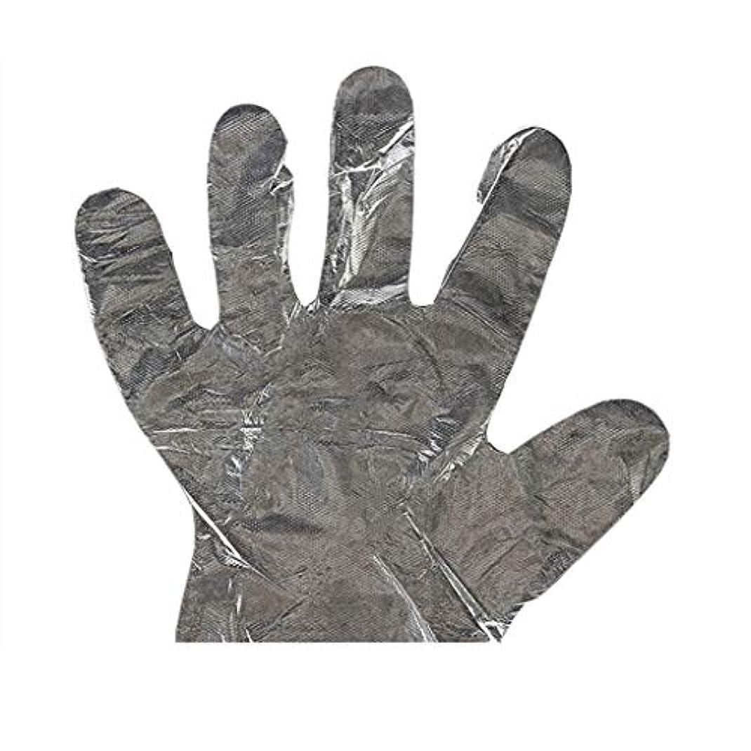 堤防農学人手袋の使い捨て手袋PEの衛生的な食糧手袋100パッケージ