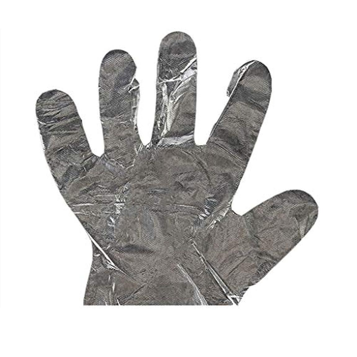 検索代わりにを立てる純粋に手袋の使い捨て手袋PEの衛生的な食糧手袋100パッケージ