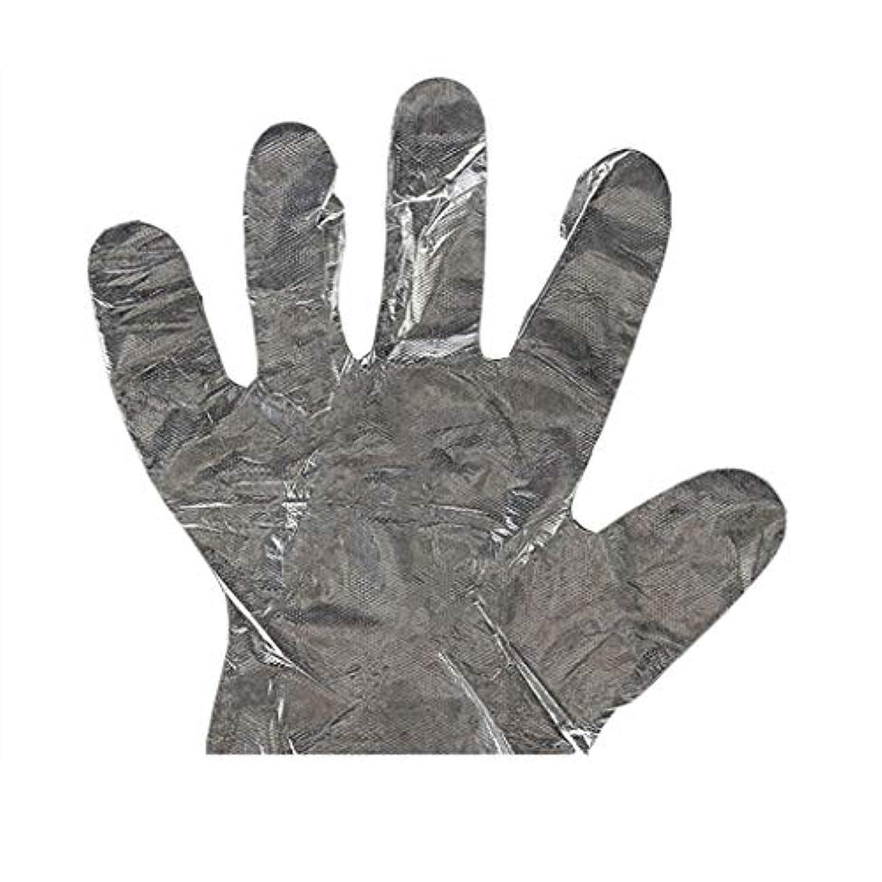 すなわち悲劇ハードウェア手袋の使い捨て手袋PEの衛生的な食糧手袋100パッケージ