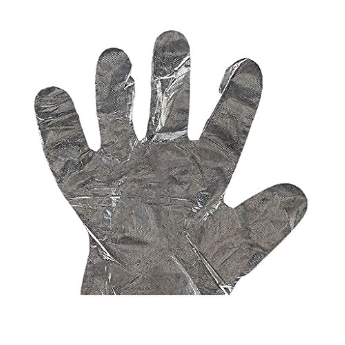 エアコン頼むエコー手袋の使い捨て手袋PEの衛生的な食糧手袋100パッケージ
