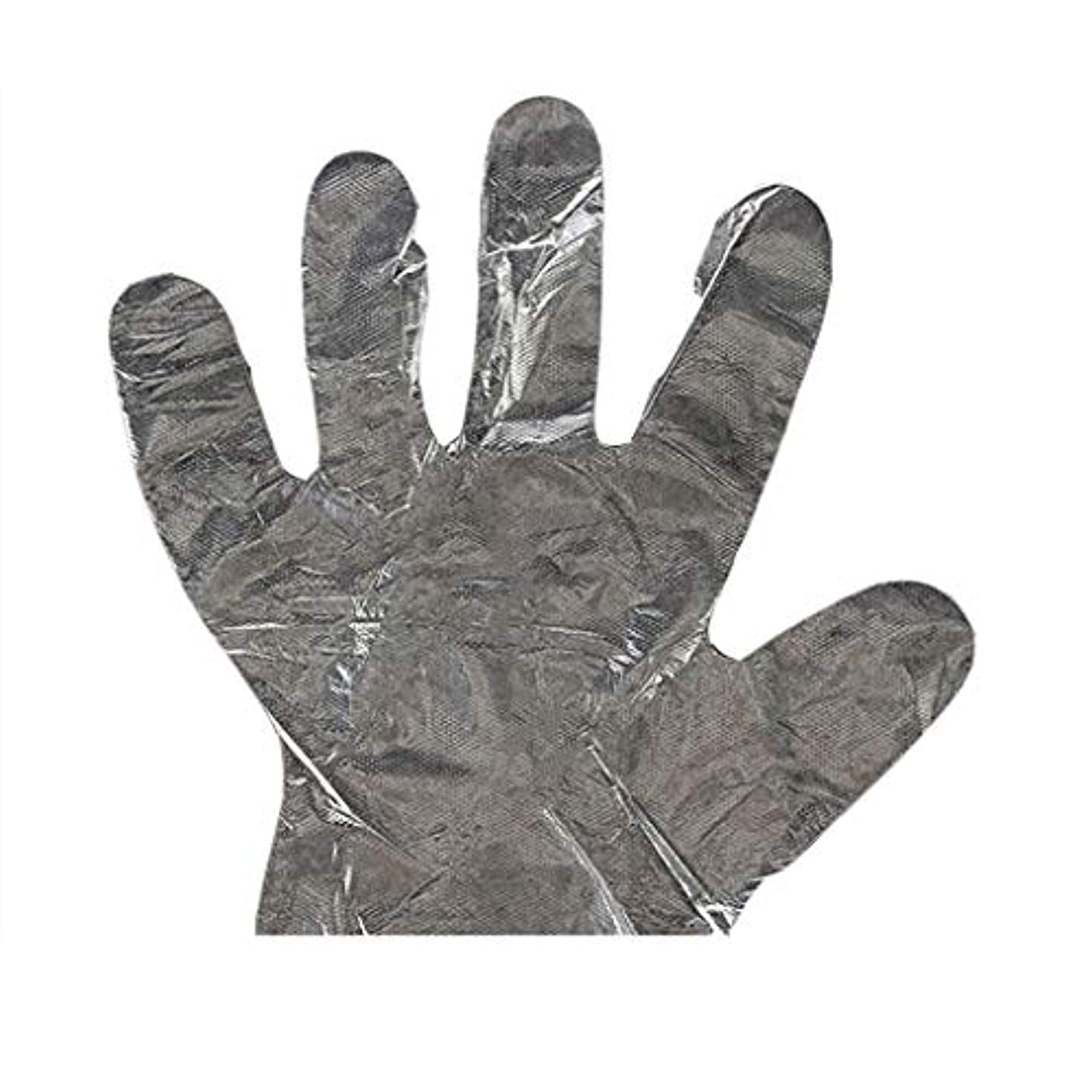 アルコール端末接ぎ木手袋の使い捨て手袋PEの衛生的な食糧手袋100パッケージ
