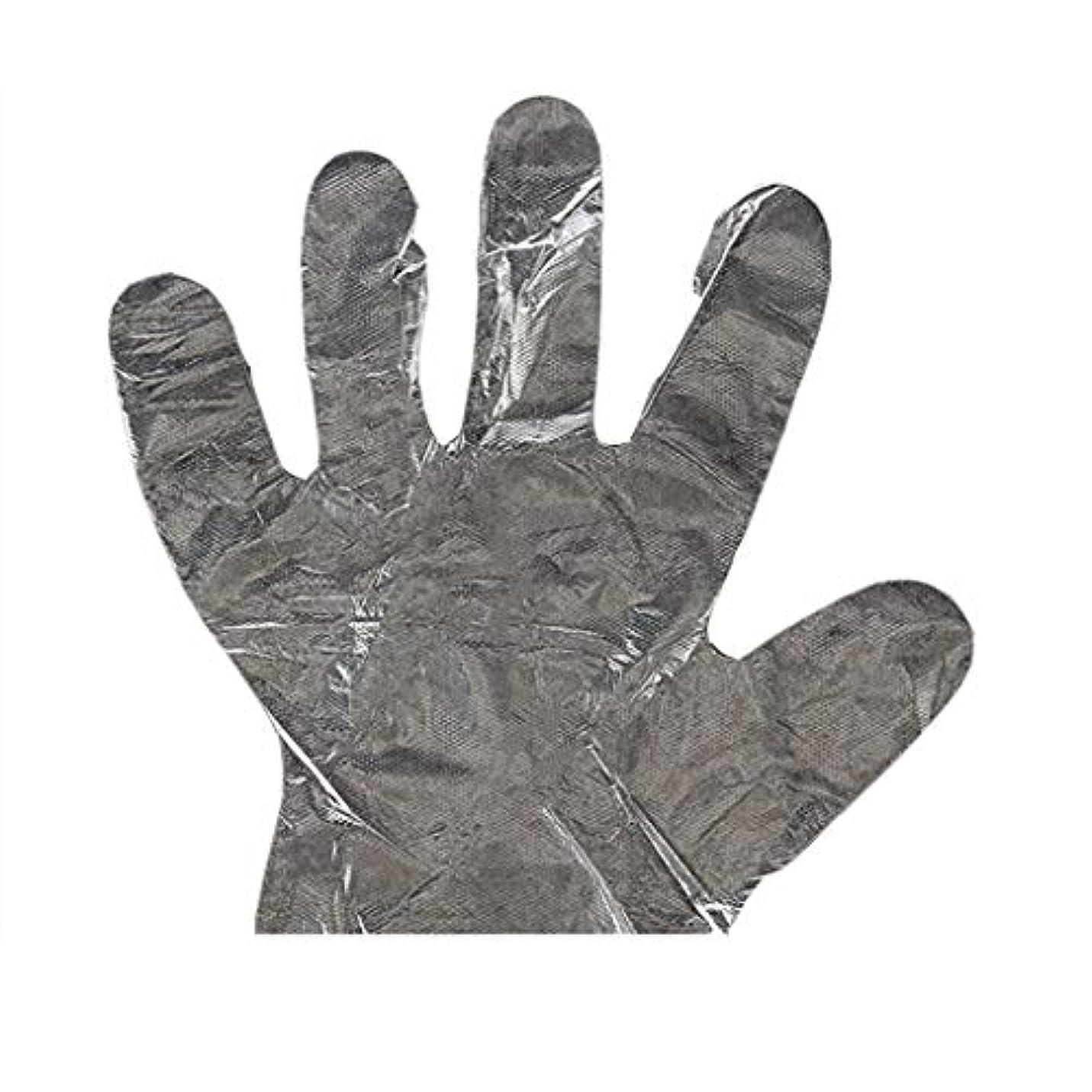 教育するコインランドリーアフリカ人手袋の使い捨て手袋PEの衛生的な食糧手袋100パッケージ