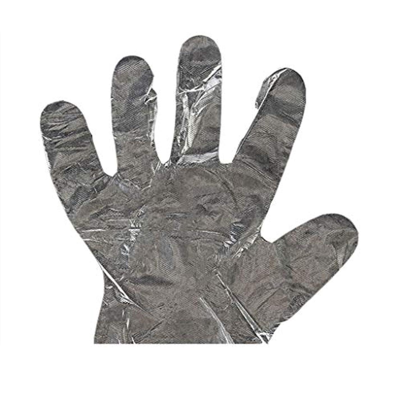 差別的ハンマー考古学者手袋の使い捨て手袋PEの衛生的な食糧手袋100パッケージ
