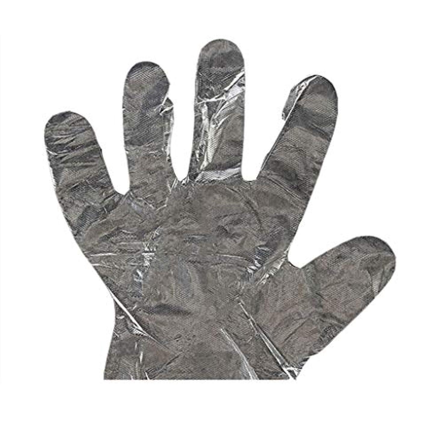 ガード小説家貨物手袋の使い捨て手袋PEの衛生的な食糧手袋100パッケージ