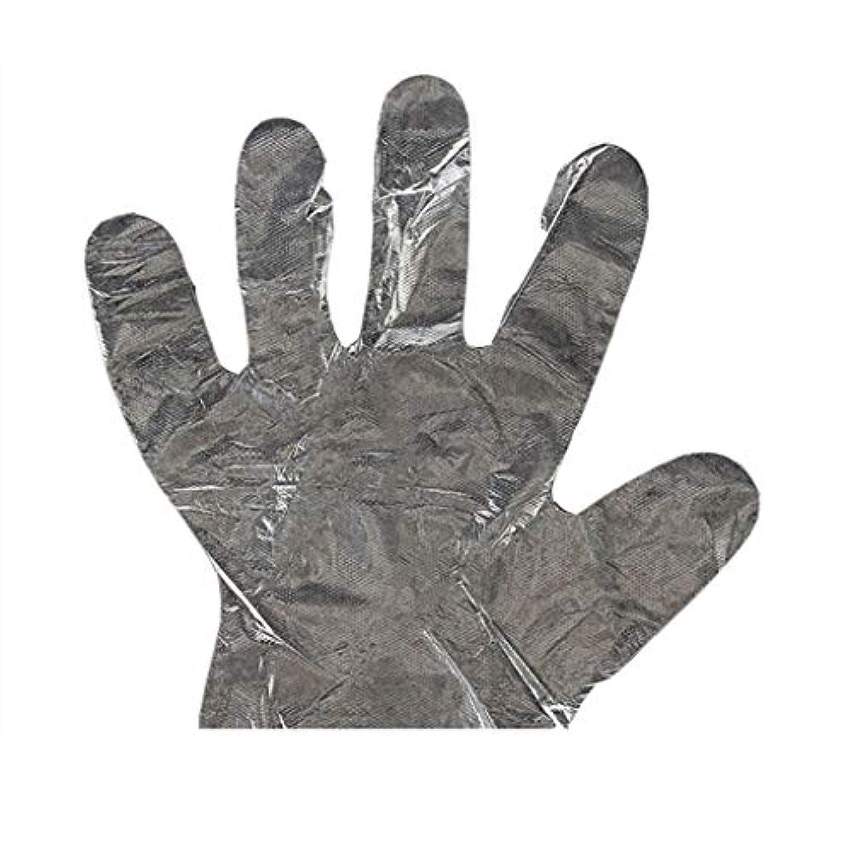 上記の頭と肩ページェント利用可能手袋の使い捨て手袋PEの衛生的な食糧手袋100パッケージ