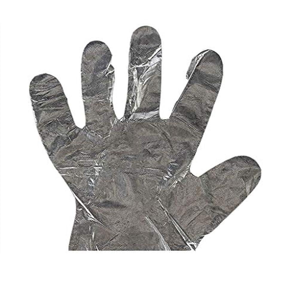 妊娠したキウイ並外れて手袋の使い捨て手袋PEの衛生的な食糧手袋100パッケージ