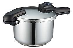 パール金属 圧力鍋 5.5L IH対応 3層底 切り替え式 レシピ付 クイックエコ H-5042