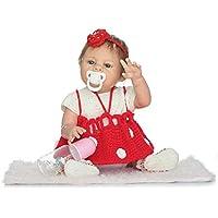 rayish Rebornベビー人形ソフトシリコン21インチ52 cm磁気Lovely Lifelikeキュートかわいいベビーレッドウール人形