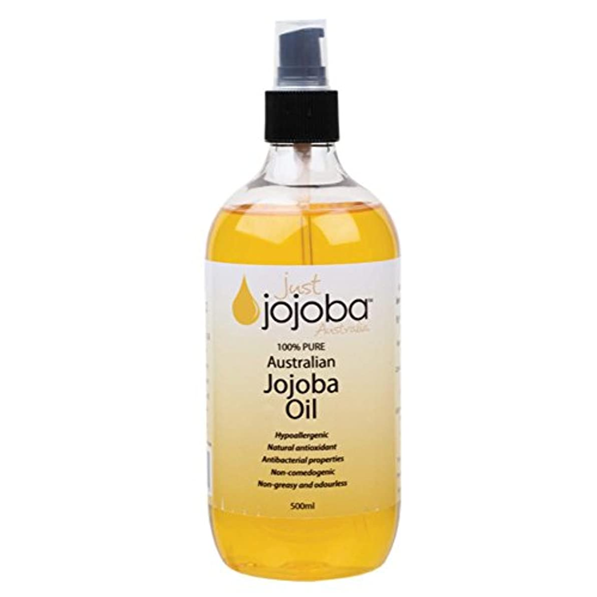 繰り返した矢印現金[Just Jojoba Australia]ジャストホホバ 100%ピュア ゴールデンホホバオイル 500ml(海外直送品)