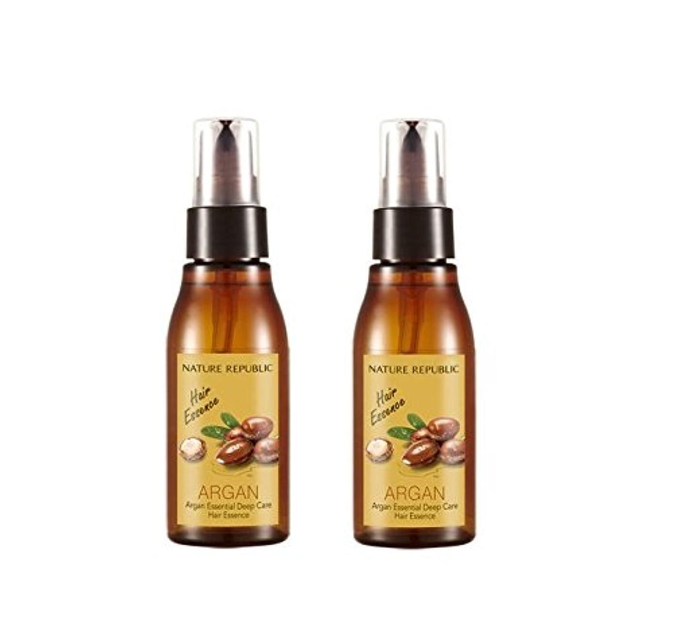 脅かす胆嚢効率的[ネイチャーリパブリック]NATURE REPUBLIC/アルガンエッセンシャルディープケアヘアエッセンス x 2本(Argan Essential Deep Care Hair Essence x 2pcs set)...