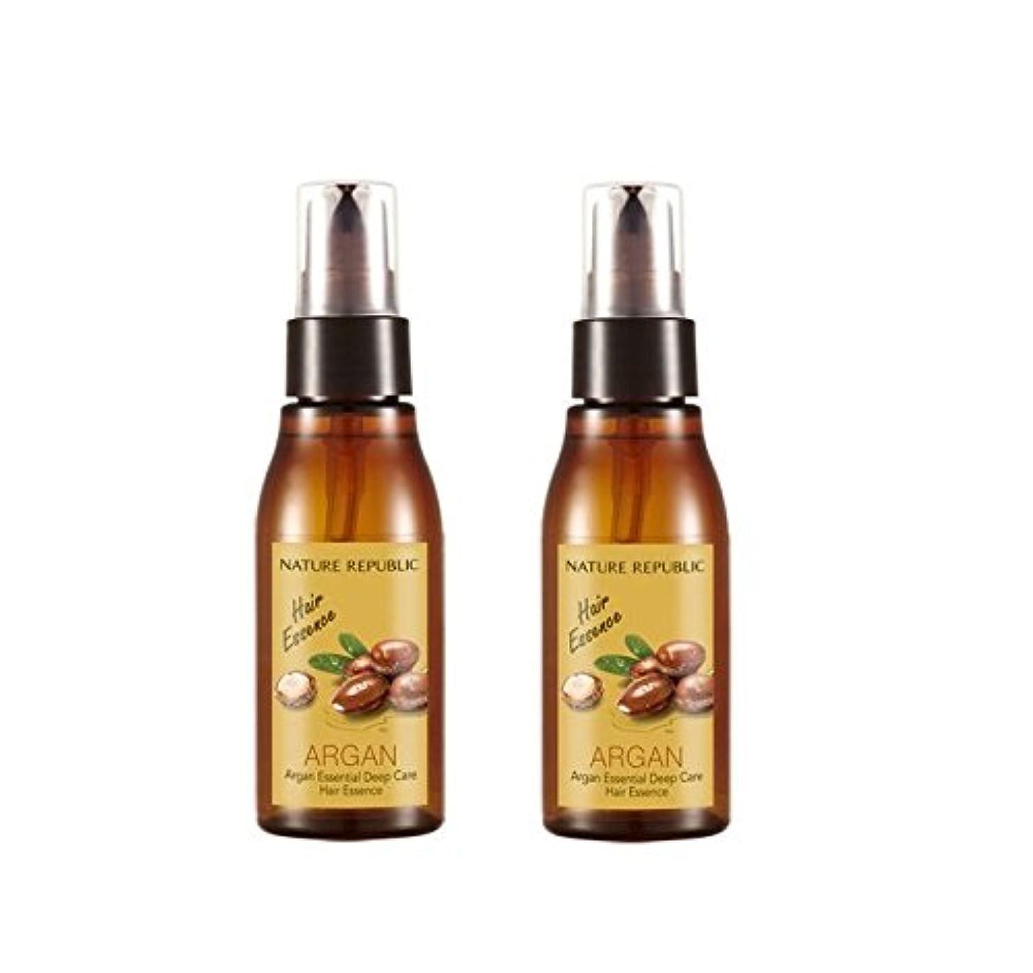 計器キモい心から[ネイチャーリパブリック]NATURE REPUBLIC/アルガンエッセンシャルディープケアヘアエッセンス x 2本(Argan Essential Deep Care Hair Essence x 2pcs set) [並行輸入品]