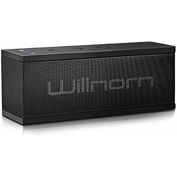 Willnorn SoundPlus ポータブル Bluetooth スピーカー 10W ステレオ ベース 大音量 重低音強化 内蔵マイク NFC搭載 IPX5防水機能 PC スマホ等に対応