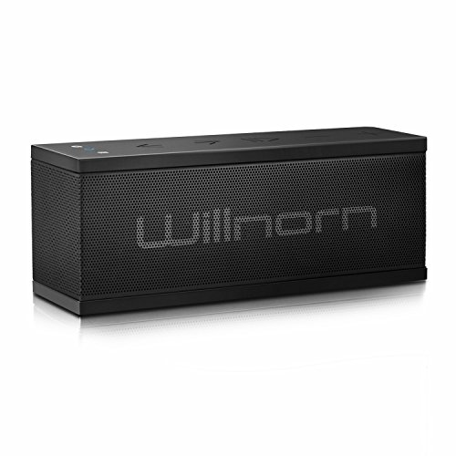Willnorn SoundPlus ポータブル Bluetooth スピーカー 10W ステレオ ベース 大音量 重低音強化 24時間連続再生可能 内蔵マイク NFC搭載 IPX5防水機能 PC スマホ等に対応
