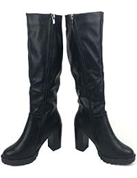 (K-JOY) +9cm 美脚 ニーハイ ロングブーツ(天使の羽セット) レディース ファッション コスプレ サイドジッパー 04