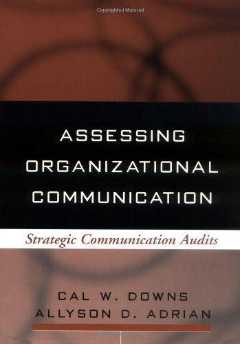 Download Assessing Organizational Communication: Strategic Communication Audits (Guilford Communication Series) 1593850107