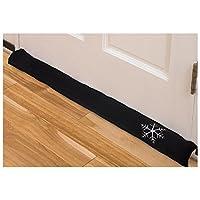 Draft Stopper 36インチ インテリア エア ドア 窓 ガレージ 暖炉 ガード ブロッカー ブラック