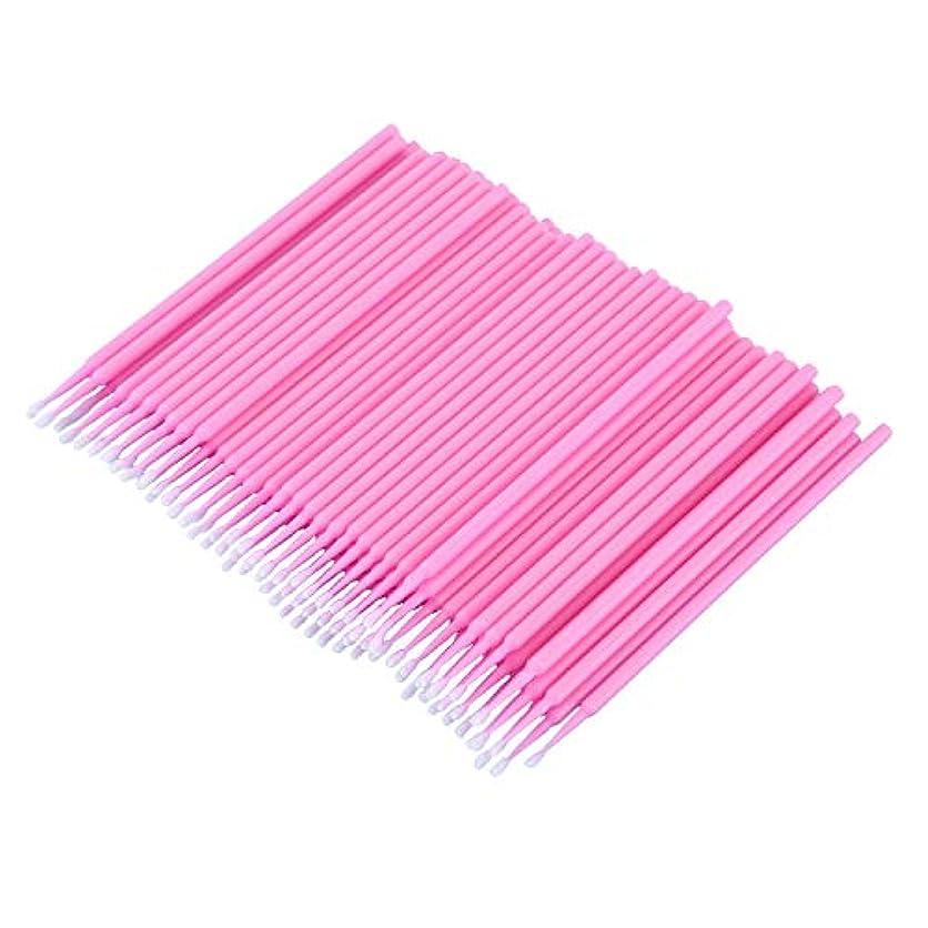 痛いきちんとした不毛のCUHAWUDBA 100個 歯科用マイクロブラシ 使い捨て材料 歯用アプリケーター ミディアムファイン(ピンク)