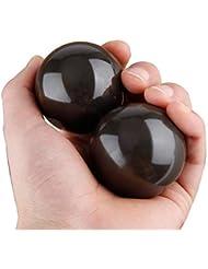2点天然石 健身球 健康玉 泗濱ベン石(泗濱浮石)1 pair of Bian Stone Baoding Chinese Health Stress Exercise Balls