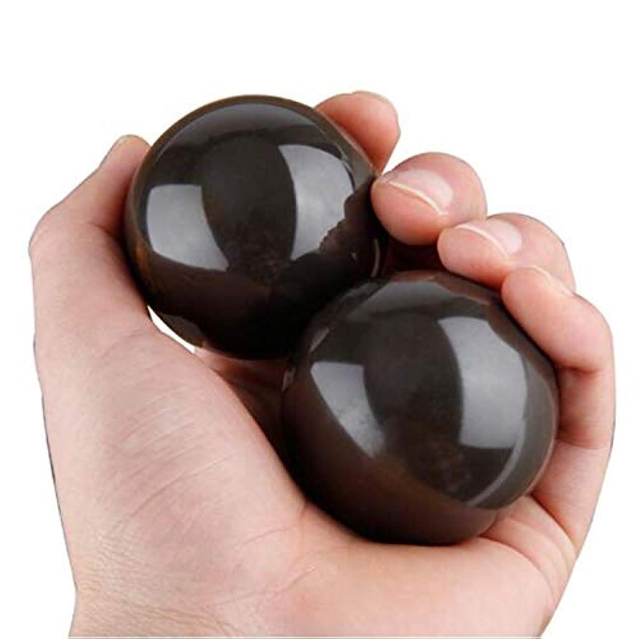 ウィスキー結び目活力2点天然石 健身球 健康玉 泗濱ベン石(泗濱浮石)1 pair of Bian Stone Baoding Chinese Health Stress Exercise Balls
