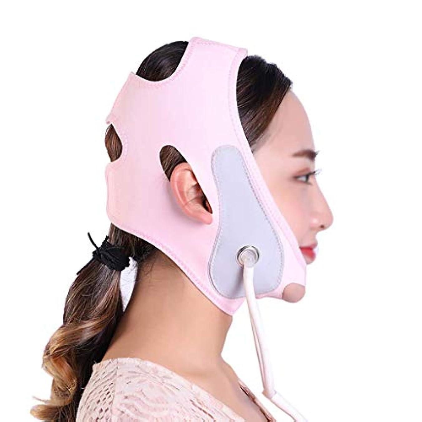 中止します通り抜ける見る顔と首のリフト後伸縮性スリーブシンフェイスマスク引き締め肌の改善マッサージリフティング収縮シンフェイス弾性包帯Vフェイスアーティファクト
