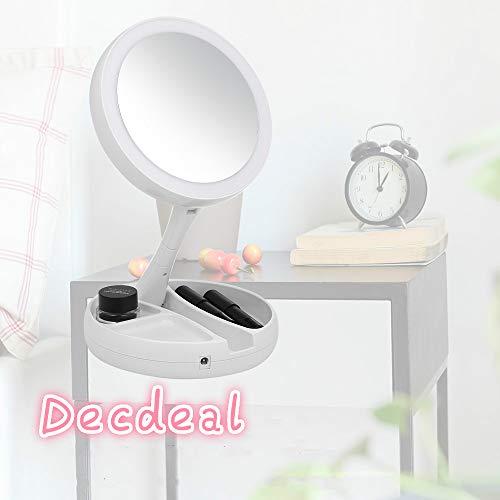 Decdeal 化粧鏡 メイクアップミラー スタンド式 LE...