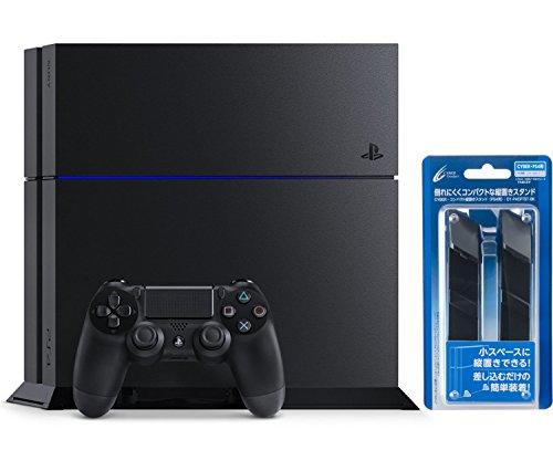 PlayStation 4 ジェット・ブラック 1TB (CUH-1200BB01) 【メーカー生産終了】【Amazon.co.jp限定】CYBER コンパクト縦置きスタンド ( PS4 用) ブラック付
