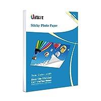 自己粘着フォト用紙光沢- 100シートuinkit Stickyインクジェット紙8.5X 116.5Mil 130gsmインクジェット印刷の場合のみ