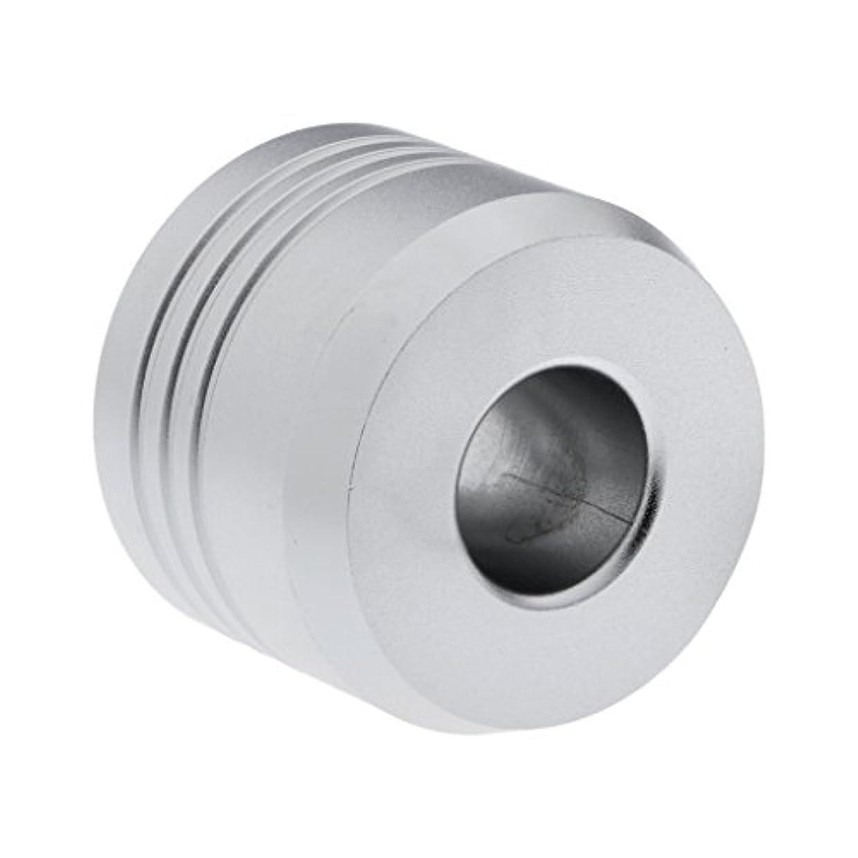 留まる敏感な衝突カミソリスタンド スタンド シェービング カミソリ ホルダー ベース サポート 調節可 メンズ 男性 プレゼント 2色選べ - 銀