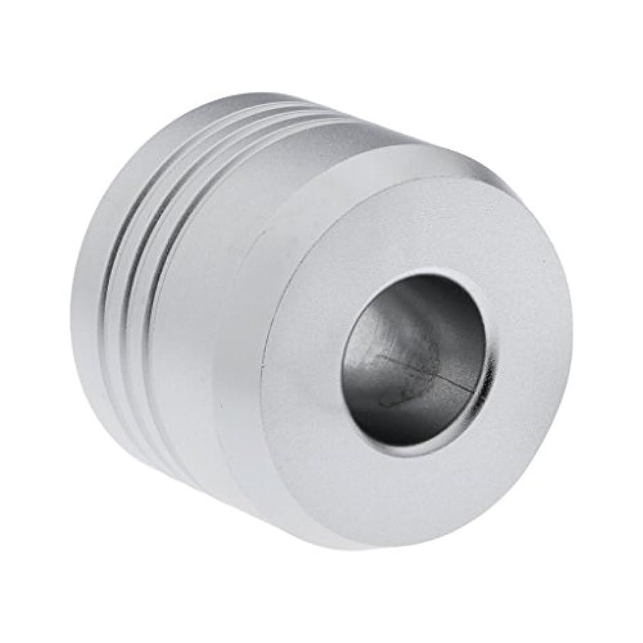 粘土チョップ一般的なHomyl カミソリスタンド スタンド シェービング カミソリホルダー ベース サポート 調節可 ミニサイズ デザイン 場所を節約 2色選べ   - 銀