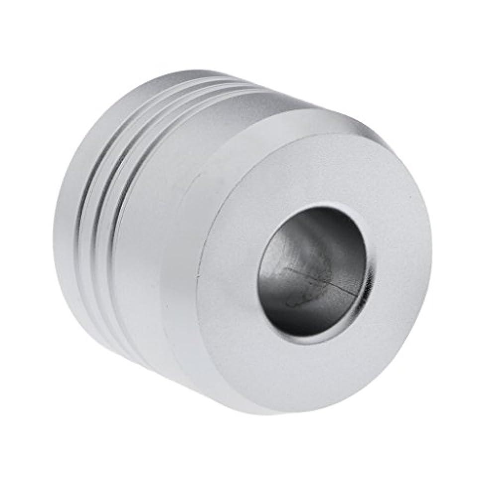 半球シットコム質量Homyl カミソリスタンド スタンド シェービング カミソリホルダー ベース サポート 調節可 ミニサイズ デザイン 場所を節約 2色選べ   - 銀